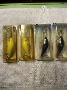 4 tom manns old fishing lures on deep frog card 15