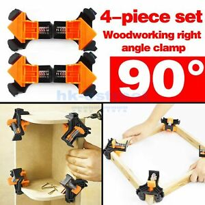 4Pcs Set 90 Degree Right Angle Clip Clamps Corner Holders Woodworking Hand Tools $12.78