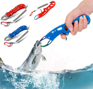 Aluminum Fishing Lip Gripper Red Blue Lures Fishing Pliers Cutter Tool Set