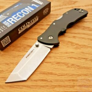Cold Steel Mini Recon Folding Knife 3quot; AUS 10A Steel Tanto Blade GRN Handle