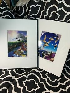 """Liz Collins 2 Signed Lithographs Sweet Harvest And Heading South 8"""" X 10"""" $69.99"""
