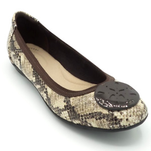 Clarks Collection Leather Flats Gracelin Zone Snake $32.99