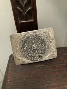 Large Mexican Sterling Buckle Mayan Calendar $135.00