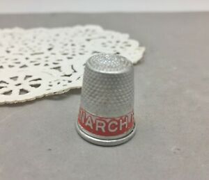 Monarch Ranges Aluminum Metal Thimble Promo Advertising Stove Vintage Sewing Red $9.42