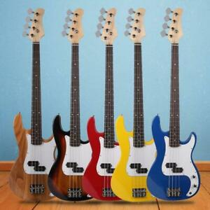 New 6 Different Color 4 Strings Right Handed Burning Fire Electric Bass Guitar