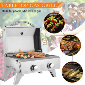 Tabletop Stainless Steel Propane Oven Gas Grill Oven Burner Cooker BBQ Picnic