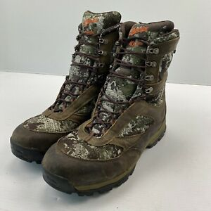"""Danner Men#x27;s High Ground 8"""" Forest Hunting Boots 46237 Camo Green Size 11 1 2"""