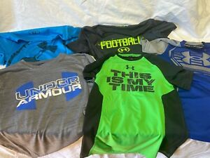 LOT OF 5 BOYS UNDER ARMOUR SHIRTS SIZE 8 SMALL $20.00