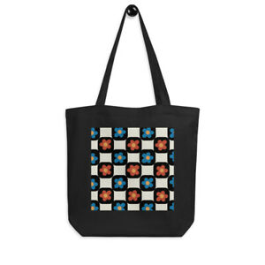Checkered Flower Eco Tote Bag $19.99