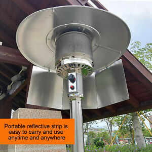Patio Heater Reflector Shield for Propane and Natural Gas Table Top Patio Heater