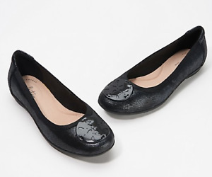 Clarks Collection Leather Flats Gracelin Zone Black $32.99