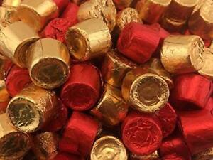 Valentines ROLO Milk Chocolate Chewy Caramels Candy Gold and Red Wrap Bulk Pack