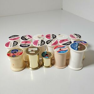 17 Vintage Styrofoam and Plastic Thread Spools Mostly Large Size All Empty $6.99