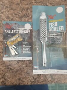2 old fishing items Pal scaler anglers holster. New old stock