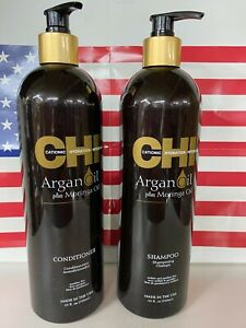 Chi Argan Oil with Moringa Oil Shampoo and Conditioner 25 oz Duo USA