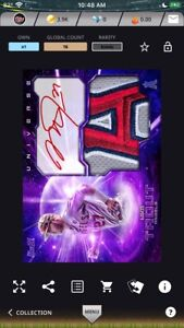 2021 Topps Bunt Universe Mike Trout Purple Signature Relic ICONIC Digital Card