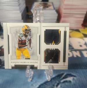 MARQUEZ VALDES SCANTLING 2018 NATIONAL TREASURES DUAL RELIC SP 28 49 PACKERS $24.99