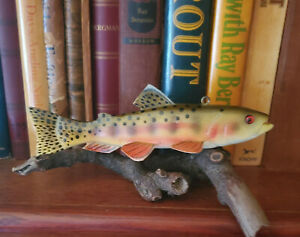 Golden Trout James Stangland Wood Fish Decoy Carving Beautiful