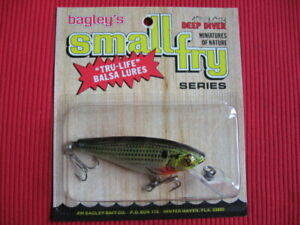 Bagley Small Fry Shad All Brass 3quot; Deep Diver 4DSF3 CSH Fishing Lure MIP