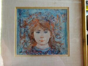 Limited Edition Lithograph by Edna Hibel. FRAMED $69.99