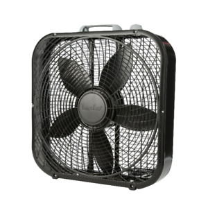Portable Box Fan 3 Speed 20 inch Floor Desk Room Office Strong Air Cooler Black $30.99