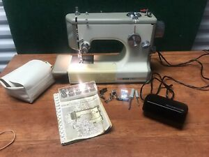 Vintage Sears Kenmore Portable Sewing Machine with Case Model 158 10400 RUC $175.00