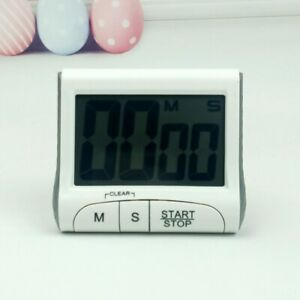 LCD Digital Cooking Timer Alarm Magnetic Meter White Timer Kitchen Accessories $9.29