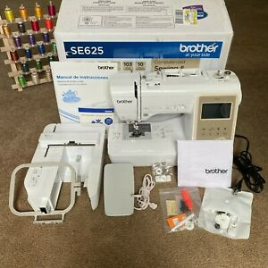 Brother SE625 Computerized Sewing and Embroidery Machine LCD Screen w 62 Spools $550.00