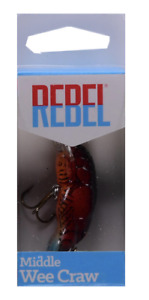 Rebel Middle Wee Crawfish Fishing Lure 1 11 16quot; 3 16 Oz. Ditch Brown F6875