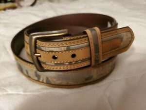 Brand New Oilfield Camo Belt Embossed Logo Removable Buckle Size 38 Camo