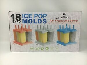 Pre Owned Missing Contents U.S. Kitchen Supply 18 Pack Ice Pop Mold Set