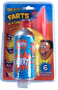 FARTS IN A CAN Button Whoopee Noise Maker Gas Joke Prank 6 Sounds Horn Machine $8.85