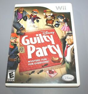 Disney Guilty Party Nintendo Wii Game with Case Manual Tested Working $17.99