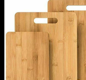 Brookline Wood Cutting Board Set 3 Charcuterie Boards for Home Kitchen