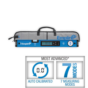 Empire Magnetic Digital Box Level Leveling Measuring Tool Case 24 Inch True Blue $256.42