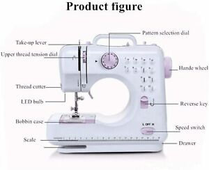 Sewing Machine Portable Electric Crafting Mending Machine 12 Built In Stitches $28.35