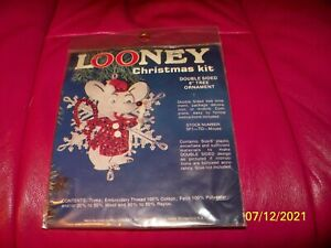 HILL LOONEY VINTAGE KIT 5F1 TO MOUSE FELT DUBLE SIDED 6quot; TREE ORNAMENT $14.95