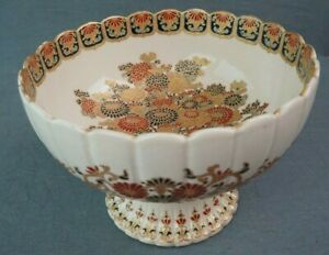 19C Japanese Imperial Satsuma Gosu Blue Signed Footed Bowl 73 Inch Diameter