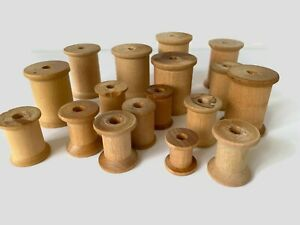 17 Vintage Empty Wooden Thread Spools without thread $10.00