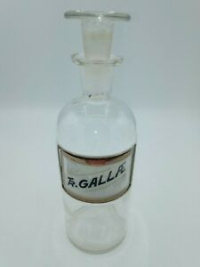 """Antique Apothecary Bottle TR. GALLAE"""" $21.50"""