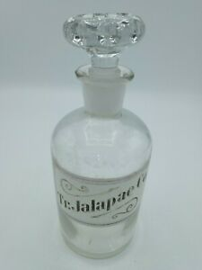 Antique Apothecary Bottle Tr.Jalapae Co. $25.50