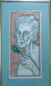 C.P. Dalton Roecklein 2 Hand Signed Lithographs Modern Art Abstract Outsider $184.00