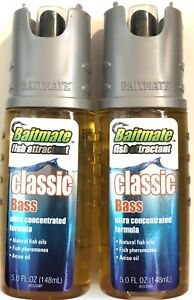 Lot Of 2 Baitmate Classic Scent Fish Attractant for Lures and Baits 5 fl oz