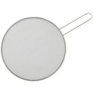 HIC Splatter Screen Guard Strainer 18 8 Stainless Steel Fine Mesh 13 Inches