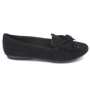 Clarks Collection Bow Detailed Flats Gracelin Jonas Black Suede $34.99