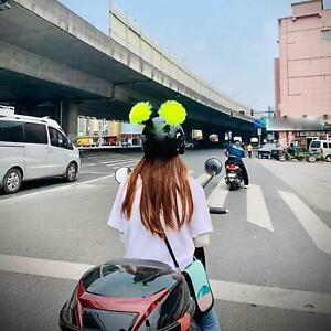 Motorcycle Ski Helmet Pigtails Braids with Suction Cup for Motorcycle Used for