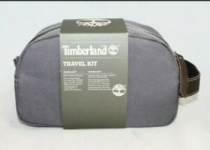 Timberland Men#x27;s Core Canvas Gray Travel Toiletry Bag Travel Kit NEW $27.00