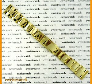 60s Gold Tone Oyster Rivets Links Band 16mm Straight Ends NOS Rolex Bubbleback $280.00