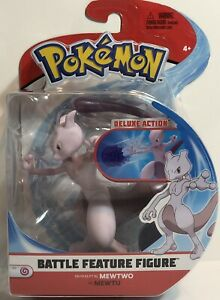 Pokemon 4.5 Battle Feature Figure Mewtwo Toy Gift New In Box $32.95