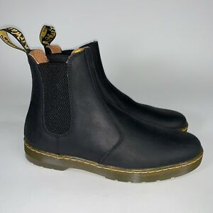 Dr. Martens Mens Boots Harrema Casual Pull On Chelsea Ankle Leather Textile
